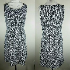 Ann Taylor Loft Black Polka Dot Dress Size 8
